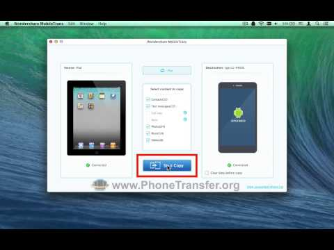 How to Sync All Photos, Music, Videos, SMS & Contacts from iPad to LG G3 / G4 on Mac OS X?
