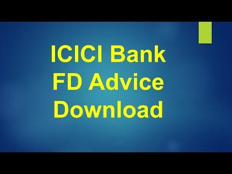 ICICI Bank Fixed Deposit Online Advice Receipt