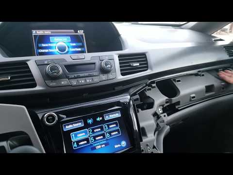 How to Remove Radio / Navigation / Display from Honda Odyssey  2014 for Repair.