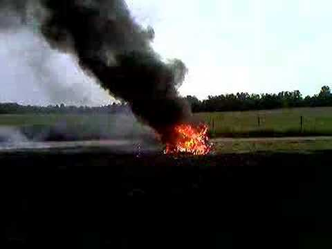 My tractor caught on fire
