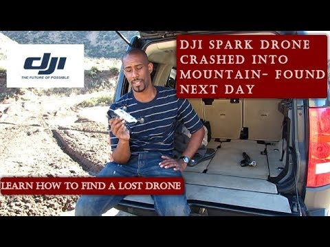 The # 1 reason you'll never lose your drone again | DJI Spark found after crashing in mountains