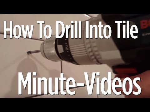 How To Drill Into Ceramic or Porcelain Tile in 1 Minute (Anyone can do it)