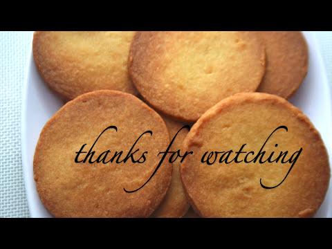 cookies recipe /thin & crisp short bread cookies --  Cooking A Dream