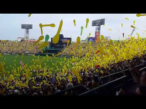 2018-05-27, Hanshin Tigers Vs. Tokyo Giants: 7th inning balloon release