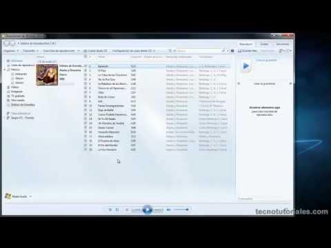 Tecnotutoriales.com - Convertir un CD a MP3 con el Reproductor de Windows Media