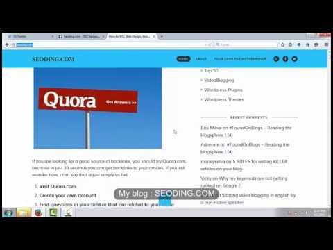 How to get backlinks using Quora com