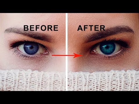 Eyes color change with photoshop cs6 tutorial | how to change your eye color