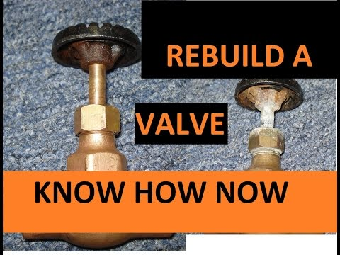 Rebuild Water Shut Off Valve