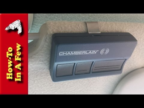 How To Replace Your Garage Opener Remote Battery