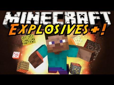 Minecraft Mod Showcase : EXPLOSIVES+!