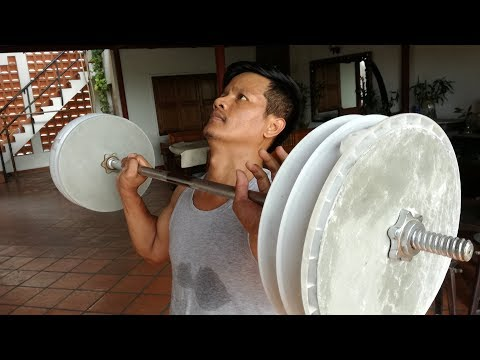 Home make dubbells cement for gym at home /how to make it