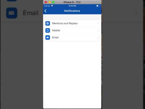 IOS email notification setting