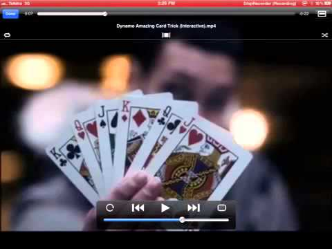 How dynamo did his interactive card trick