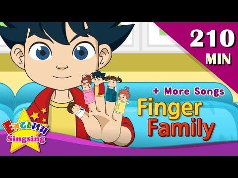 Finger Family + More FUN BODY Songs | Top 50 Nursery Rhymes with lyrics | English kids video