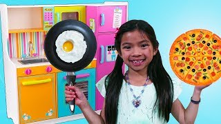 Download Emma Pretend Cooks w/ Cute Kitchen & Food Truck Toy Video