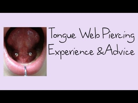 Tongue Web Piercing Experience