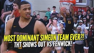 Most DOMINANT Simeon Basketball Team EVER?! Talen Horton-Tucker Shows Out Against Fenwick!