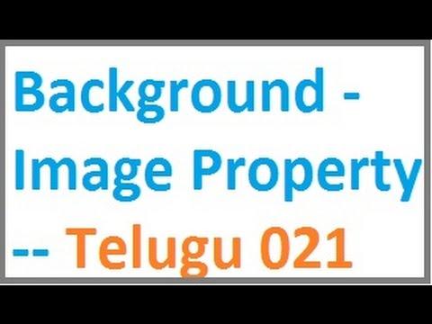 Background Image Property -- Telugu 21-vlr training