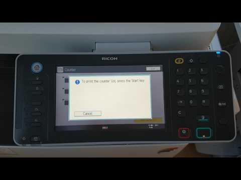 Tutorial For Getting Ricoh Metre Readings MP C3002 up to MP C8003