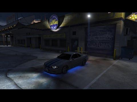 GTA 5 Car Mods. NISSAN SKYLINE GTR (R)34 из Двойного Форсажа