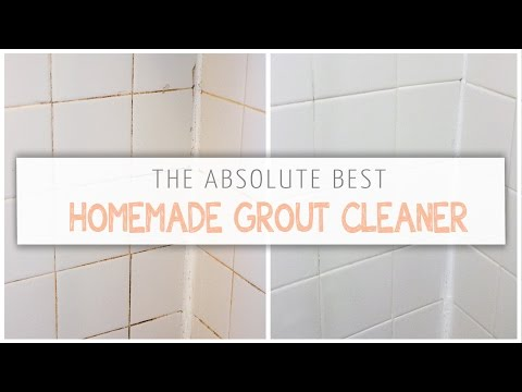 The Absolute Best Homemade Grout Cleaner!