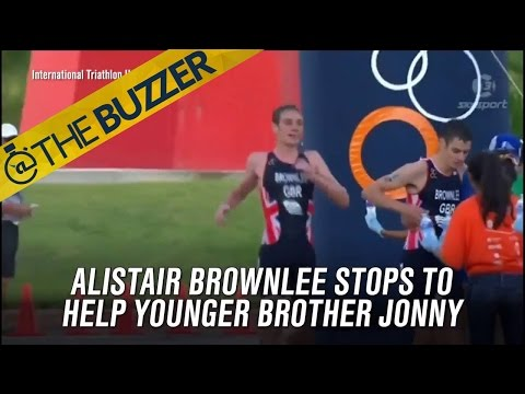Triathlete gives up winning to help his brother across the finish line  | @TheBuzzer | FOX SPORTS