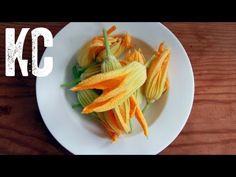 Fried Squash Blossom Recipe | Stuffed with Ricotta and Pecorino