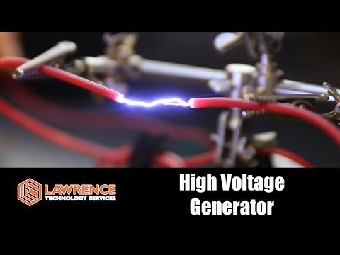 Playing with a 500Kv High Voltage Generator and a 9 Volt Battery
