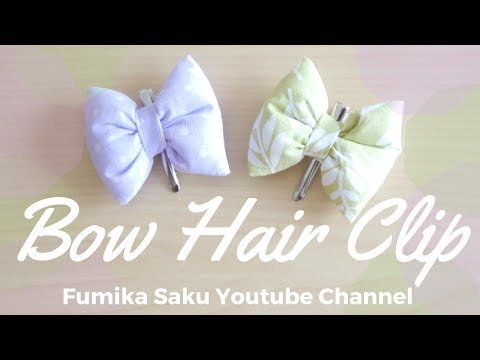 How to make Bow Hair Clip