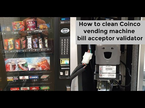 How to clean Coinco vending machine bill acceptor and validator DIY video #diy #vendingmachine