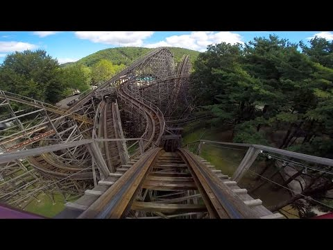 Twister front seat on-ride HD POV Knoebels Amusement Resort