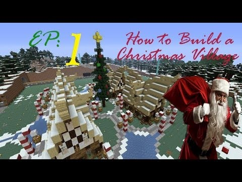 How to build a Christmas Village in Minecraft - Episode 1
