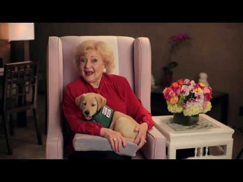 Betty White Supports Guide Dogs for the Blind