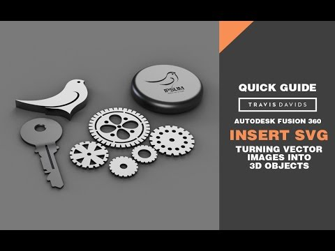 Autodesk Fusion 360 - Insert SVG - Turn Vector Images Into 3D Objects