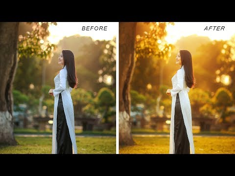 Golden Hour Sunset Light Effect in Photoshop - Change Photos to Fantasy Backlit Warm Portraits