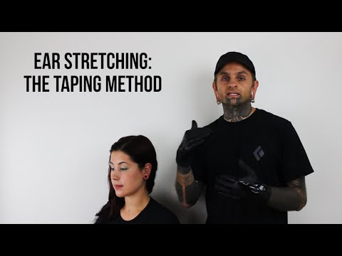 Ear Stretching: The Taping Method | UrbanBodyJewelry.com