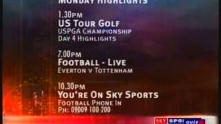 Sky Sports 1 closedown with music