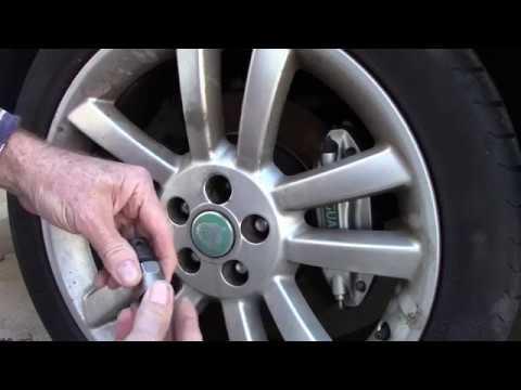 Jaguar Wheel Lock Removal