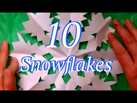 Let it snow! Snowflakes cut from paper. 10 Easy Designs in one video!