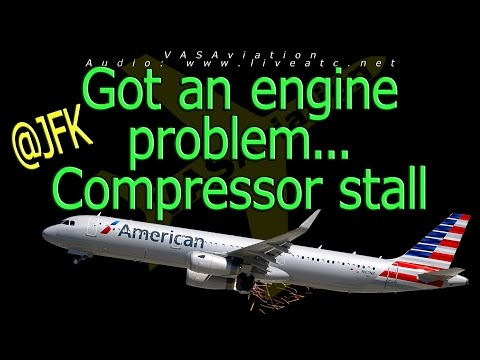 [REAL ATC] American Airlines COMPRESSOR STALL at JFK!!