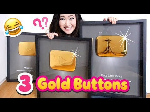 How I Got THREE Gold YouTube Play Buttons!!! 🙈 *Not Clickbait*