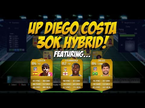 FIFA 14 - Cheap OP Diego Costa Hybrid For 30k | Squad Builder #33