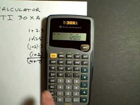 Calculator TI-30XA Part 2