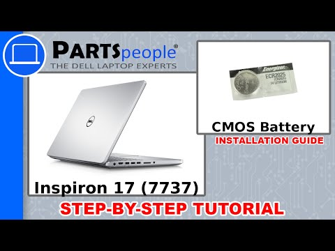 Dell Inspiron 17 (7737) Coin Cell CMOS Battery How-To Video Tutorial
