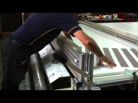 Cutting Zebra Fabric.MOV