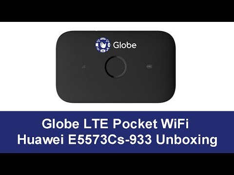 Globe Pocket WiFi Huawei E5573Cs 933 Unboxing