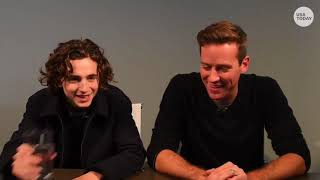 Timothée Chalamet Armie Hammer on rehearsal, dancing scene and Favorite Italian word by USA Today
