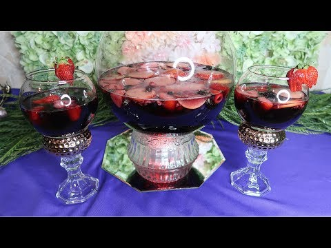 How to DIY Dollar Tree Sangria Glasses with Sangria Recipe