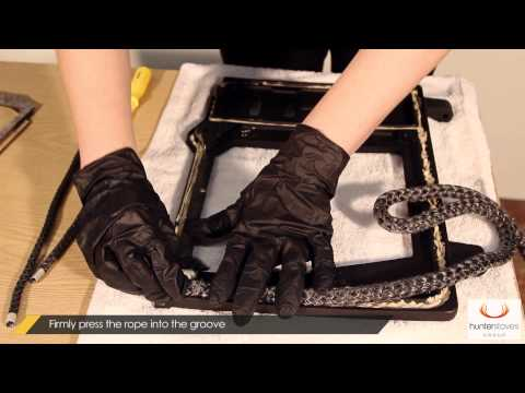 How to Replace Ceramic Rope and Gaskets on your Stove Door (Herald 8 Slimline)