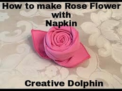 How to Fold a Cloth Napkin into a Rose in 1 Minute || Rose Flower with Napkin